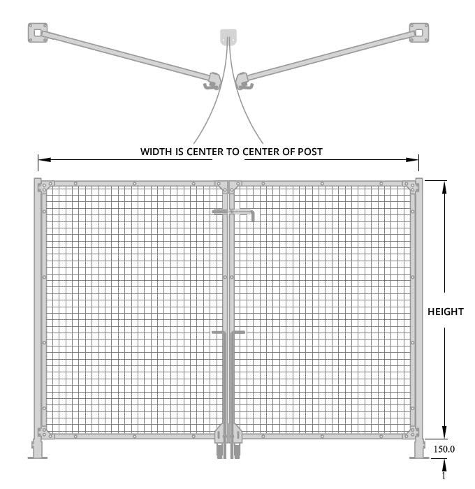 Total Access Hinge Gate Diagram